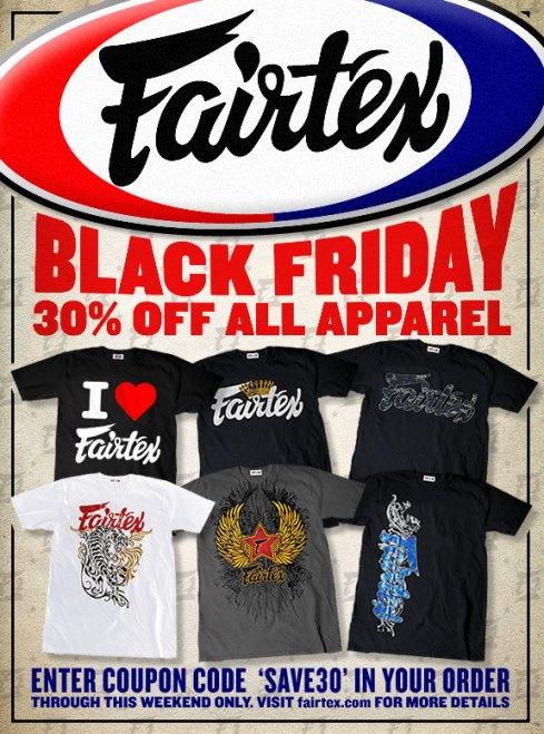Fairtex Black Friday Sale