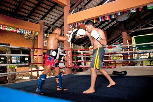 UFC Fighter David Mitchell At Fairtex Thailand