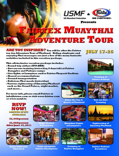 Fairtex Adventure Tour July 2011