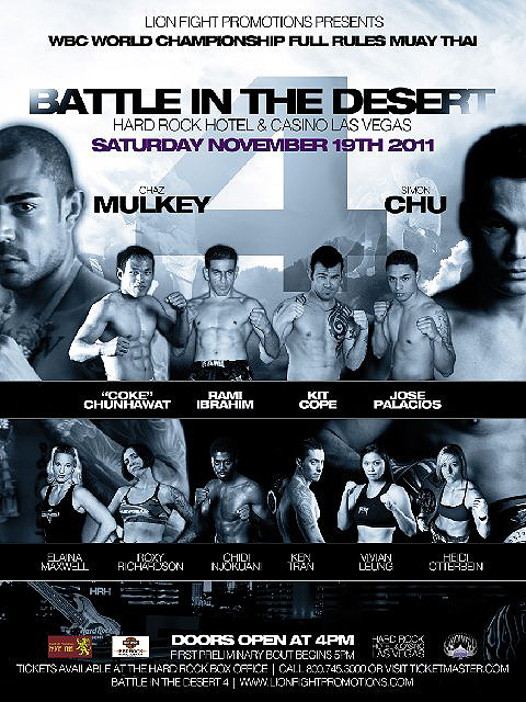 Battle In The Dessert Muay Thai
